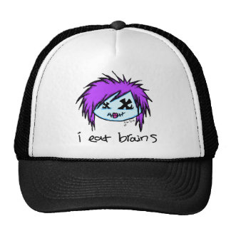 """i eat brains"" Scene Zombie Trucker Hat"