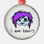 """i eat brains"" Scene Zombie Christmas Tree Ornament"