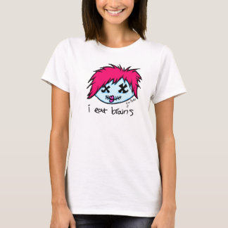 """i eat brains"" Trendy Zombie T-Shirt"