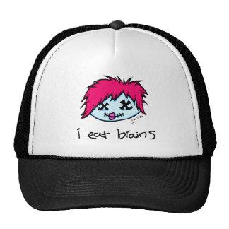 """i eat brains"" Trendy Zombie Trucker Hat"