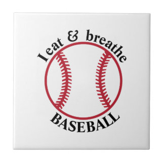I Eat & Breathe Baseball Tile