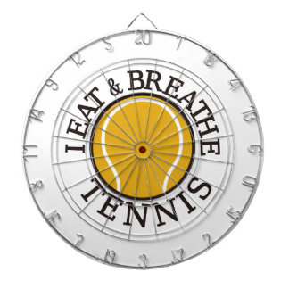 I Eat & Breathe Tennis Dartboard With Darts