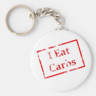 I Eat Carbs Grunge Stamp Basic Round Button Keychain