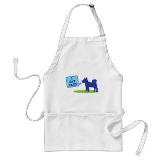 i eat cats adult apron