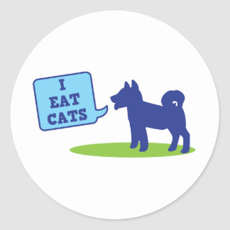 i eat cats classic round sticker