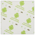 I Eat Code For A Living Android Bug Droid Fabric
