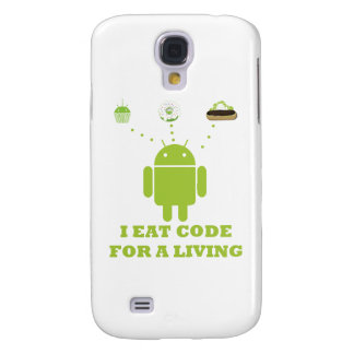 I Eat Code For A Living Developer Galaxy S4 Cases