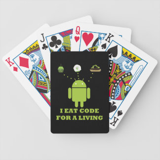 I Eat Code For A Living Software Developer Bicycle Playing Cards