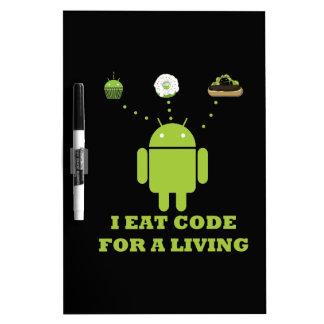 I Eat Code For A Living Software Developer Dry-Erase Whiteboards
