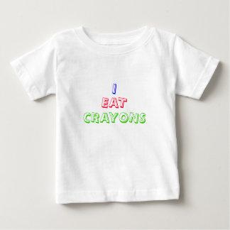 I EAT CRAYONS funny slogan Baby T-Shirt