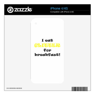 I Eat Glitter for Breakfast Decal For The iPhone 4S