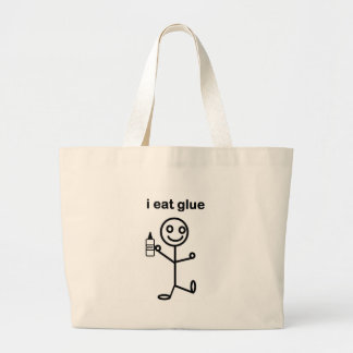 I Eat Glue Tote Bags