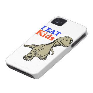 """I Eat Kids"" Funny Dinosaur iPhone 4 Case"