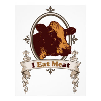I Eat Meat Cow Letterhead