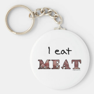 I eat meat keychain