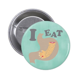 I EAT MEAT PINBACK BUTTON