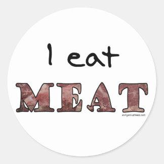 I eat meat sticker
