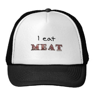 I eat meat trucker hat