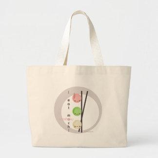 I eat mochi canvas bags