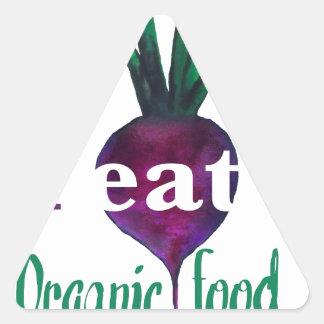 I Eat Organic Food Triangle Sticker