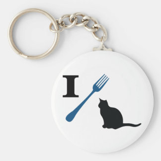 I Eat Pussy Cats Basic Round Button Keychain