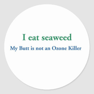 I Eat Seaweed Classic Round Sticker