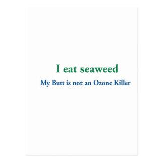 I Eat Seaweed Postcard