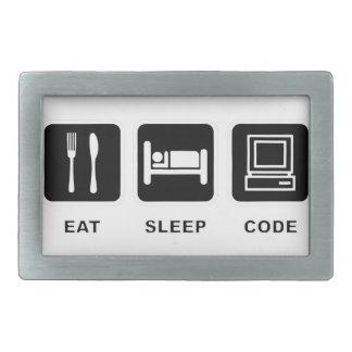 I eat, sleep and code belt buckle