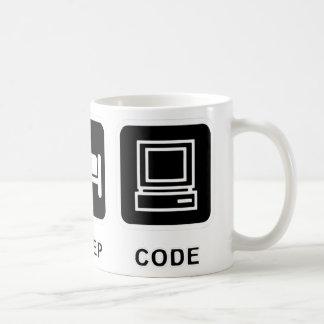 I eat, sleep and code coffee mug