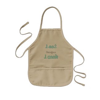 """""""I eat, therefore I cook"""" Apron for kids"""