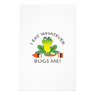I EAT WHATEVER BUGS ME STATIONERY