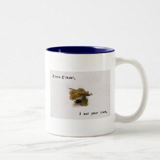 i eat your face Two-Tone coffee mug