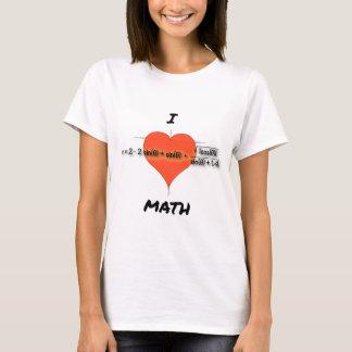 I ecuación de la matemáticas del corazón playera