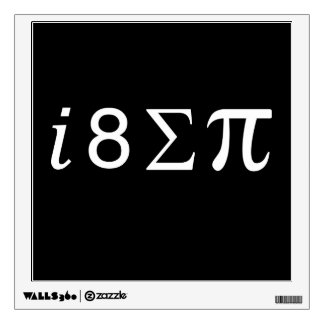 I Eight Sum Pi Wall Decal