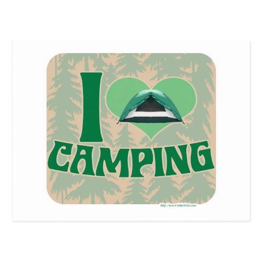 I el acampar del corazón tarjeta postal