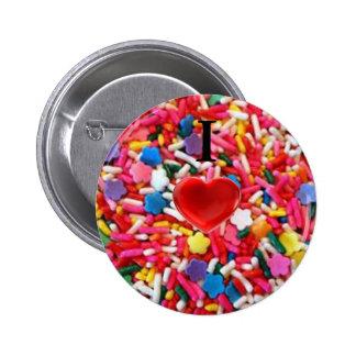 I el amor asperja/I del corazón asperja el botón Pin Redondo De 2 Pulgadas