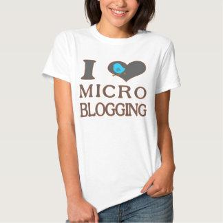I el Blogging micro del corazón Playeras