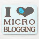 I el Blogging micro del corazón Tapetes De Raton