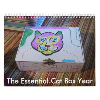 I el calendario esencial del año de la caja de
