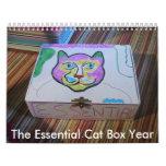 I el calendario esencial del año de la caja de gat