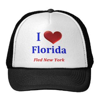 I el corazón (amor) la Florida huyó de Nueva York Gorras De Camionero