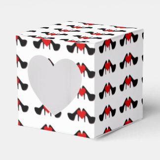 I el corazón calza la caja del favor del corazón caja para regalo de boda