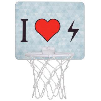 I el corazón enrarece los pernos tablero de baloncesto mini