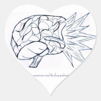 I el corazón hace un podcast C&F Pegatina En Forma De Corazón