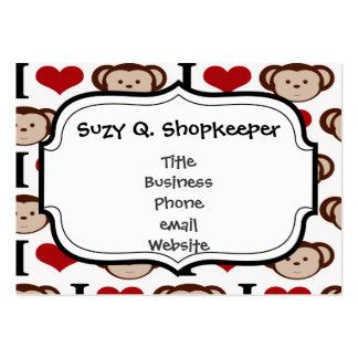 I el corazón Monkeys el regalo de las tarjetas del Tarjetas De Visita Grandes