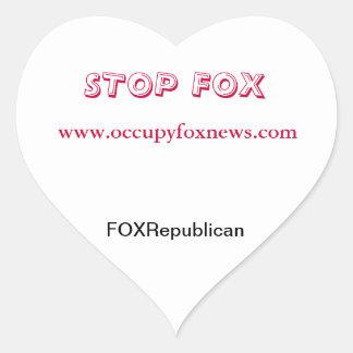 I el corazón ocupa Fox News Pegatina En Forma De Corazón