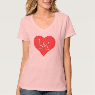 I el corazón representa vector gráficamente t shirts