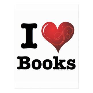 ¡I el corazón reserva los libros del amor de I! Co Tarjeta Postal