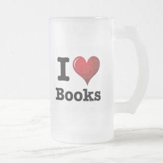 ¡I el corazón reserva los libros del amor de I! Co Tazas De Café