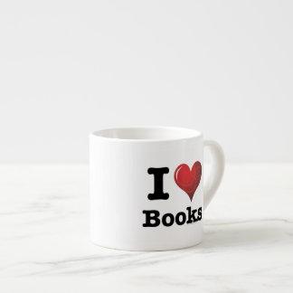 ¡I el corazón reserva los libros del amor de I! Co Tazas Espresso